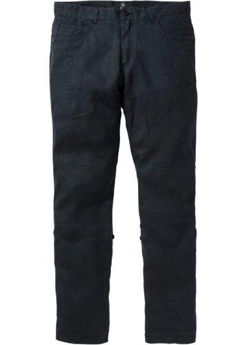 Льняные брюки Regular Fit Straight, низкий + высокий рост (U + S) (черный)