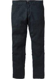 Льняные брюки Regular Fit Straight, низкий + высокий рост (U + S) (черный) Bonprix