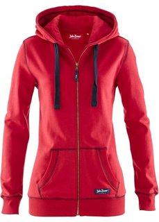 Трикотажная куртка (красный) Bonprix