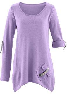 Пуловер (сиреневый) Bonprix