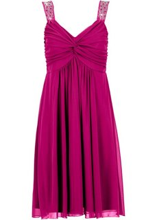 Трикотажное платье (цвет фуксии) Bonprix