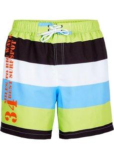Мужские купальные шорты (зеленый/белый в полоску) Bonprix