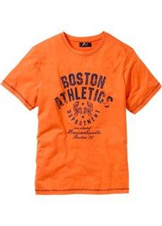 Футболка с принтом (оранжевый) Bonprix