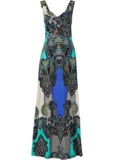 Макси-платье (зеленый/синий) Bonprix