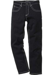 Брюки-стретч Regular Fit Straight, низкий + высокий рост (U + S) (черный) Bonprix