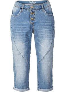 Укороченные джинсы стретч в стиле бойфренда, cредний рост (N) (голубой) Bonprix