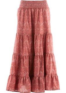 Макси-юбка дизайна Maite Kelly (красно-коричневый/белый с принтом) Bonprix