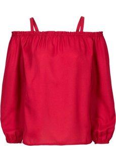 Блузка с открытыми плечами (вишнево-красный) Bonprix