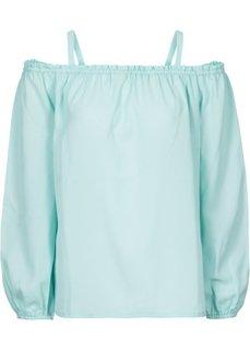 Блузка с открытыми плечами (пастельная аква) Bonprix