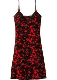 Ночная сорочка (черный/клубничный с рисунком) Bonprix