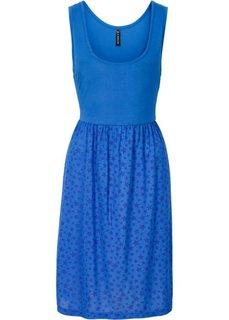 Трикотажное платье (синий/королевский синий с принтом) Bonprix