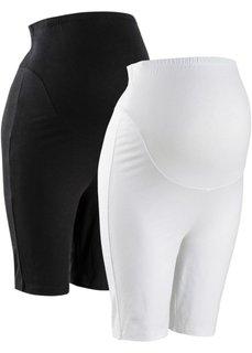 Мода для беременных: облегающие шорты (черный + белый) Bonprix