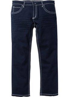 Брюки-стретч Regular Fit Straight, низкий + высокий рост (U + S) (темно-синий) Bonprix