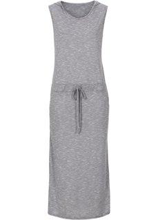 Трикотажное платье (темно-серый меланж) Bonprix