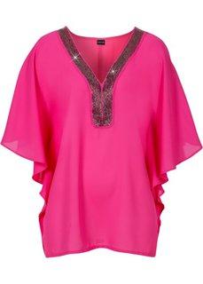 Туника с блестящими камешками (ярко-розовый) Bonprix