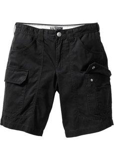 Бермуды карго Loose Fit (черный) Bonprix