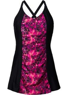 Купальное платье (черный с рисунком) Bonprix