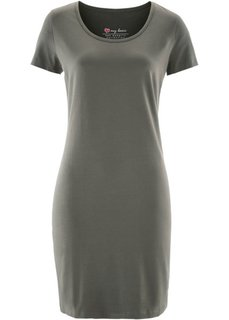 Платье стретч (темно-оливковый) Bonprix