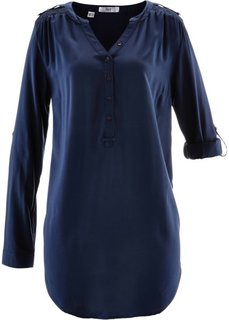 Туника с длинным рукавом (темно-синий) Bonprix