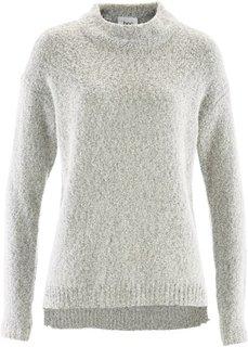 Пуловер из пряжи букле (меланж цвета белой шерсти) Bonprix