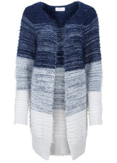 Кардиган (темно-синий/цвет белой шерсти) Bonprix