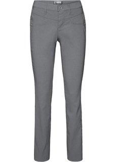 Прямые брюки стретч (дымчато-серый) Bonprix
