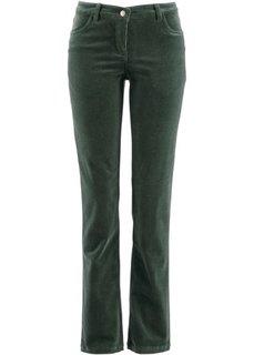 Вельветовые брюки-стретч (зеленый русский) Bonprix
