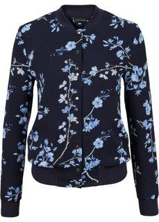 Бомбер (темно-синий/нежно-голубой в цветочек) Bonprix