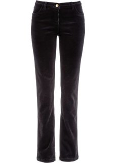 Вельветовые брюки-стретч (черный) Bonprix