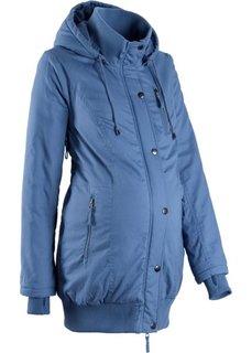 Для будущих мам: куртка с капюшоном (синий джинсовый) Bonprix