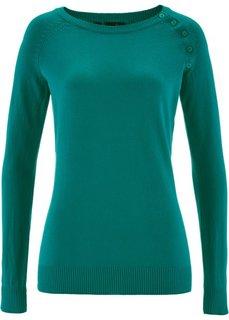 Пуловер (темно-изумрудный) Bonprix