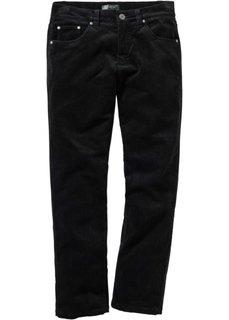 Вельветовые брюки, cредний рост (N) (черный) Bonprix