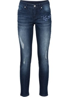Абсолютный хит: джинсы с вышивкой (темный деним) Bonprix