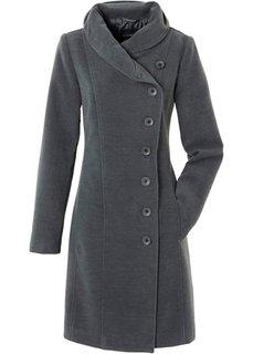 Элегантное пальто (антрацитовый меланж) Bonprix