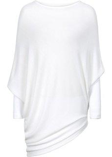 Пуловер в стиле оверсайз с асимметричным низом (кремовый) Bonprix