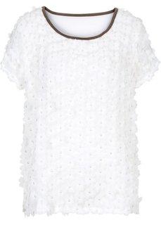 Блузка (белый/серо-коричневый) Bonprix