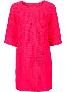 Пуловер в стиле оверсайз (ярко-розовый) Bonprix