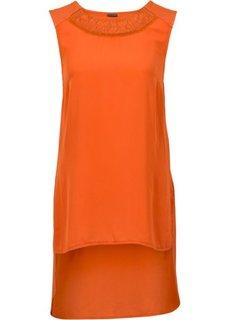 Асимметричная футболка (оранжево-красный) Bonprix