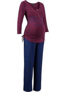 Для будущих мам: пижама для кормления (2 изд.) (красная ягода/ночная синь) Bonprix