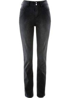 Стрейтчевые брюки с удобным поясом (черный) Bonprix