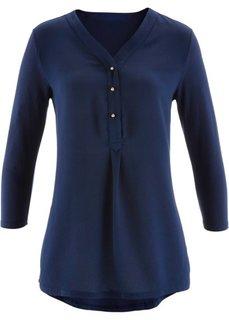 Трикотажная блузка (темно-синий) Bonprix