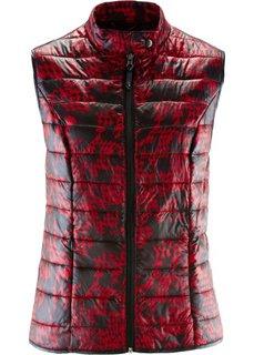 Стеганый жилет (темно-красный/черный с рисунком) Bonprix