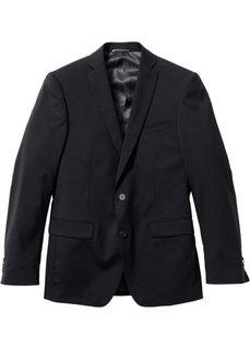 Пиджак Regular Fit с шерстью (черный) Bonprix