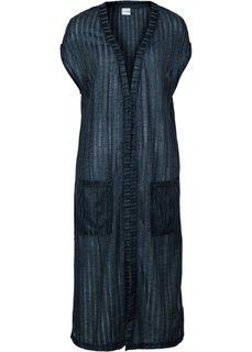 Ажурный жилет (темно-синий) Bonprix