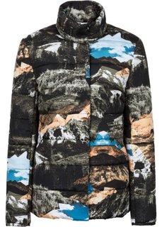 Куртка с принтом по всей поверхности (черный/синий/серый/зеленый/бежевый) Bonprix