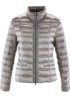Легкая куртка-пуховик с аппликацией (серо-коричневый) Bonprix