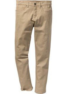 Прямые брюки-стретч прилегающего кроя (бежевый) Bonprix