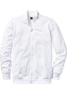 Трикотажная куртка стандартного покроя (белый) Bonprix