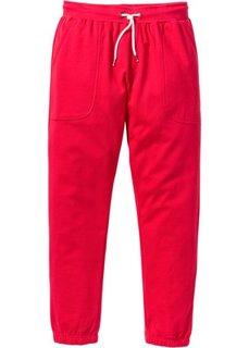 Трикотажные брюки Slim Fit (красный) Bonprix