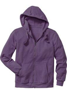 Трикотажная куртка стандартного покроя с капюшоном (виноградный) Bonprix